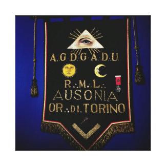 FreimaurerRegalia, vom Auftrag von Turin Galerie Gefaltete Leinwand
