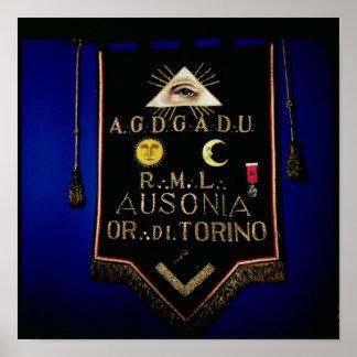 FreimaurerRegalia, vom Auftrag von Turin Posterdruck