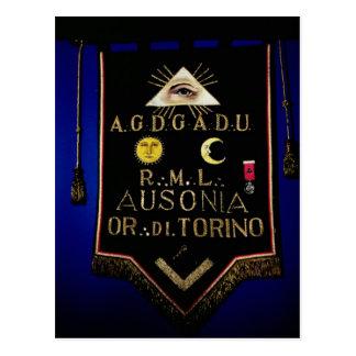 FreimaurerRegalia, vom Auftrag von Turin Postkarten