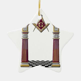 Freimaurersäulen Keramik Ornament