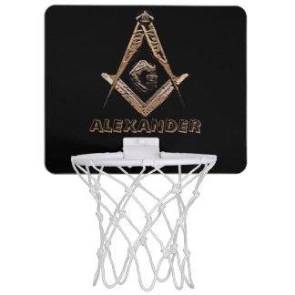 Freimaurerverstand (golden) mini basketball netz