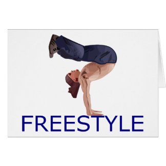 Freistil Breakdancing B Junge Karte