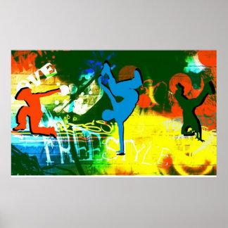 Freistil-Bruch-Tanzgraffiti-Plakat-angesagtes