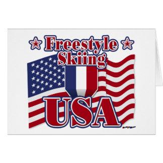 Freistil Ski fahrende USA Karte