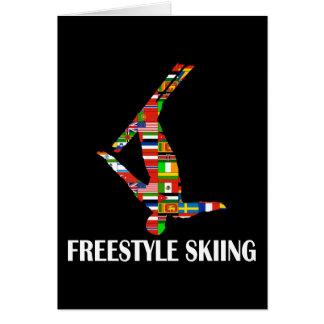 Freistil-Skifahren Karte
