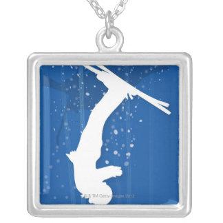 Freistil-Skifahrer Versilberte Kette