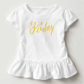 Freitag-Handbriefgestaltung Kleinkind T-shirt