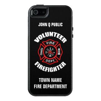 Freiwillige Feuerwehrmann-Namen-Schablone OtterBox iPhone 5/5s/SE Hülle