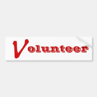 Freiwillige Shirt-, freiwillige Knöpfe und mehr Autoaufkleber