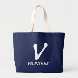 Freiwillige Shirt-, freiwillige Knöpfe und mehr Jumbo Stoffbeutel