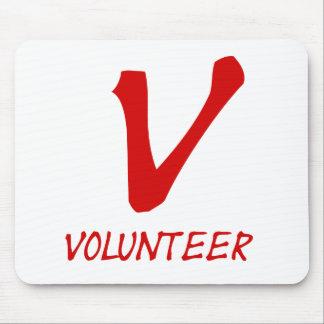 Freiwillige Shirt-, freiwillige Knöpfe und mehr Mauspad