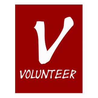 Freiwillige Shirt-, freiwillige Knöpfe und mehr Postkarte