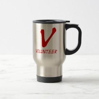 Freiwillige Shirt-, freiwillige Knöpfe und mehr Reisebecher
