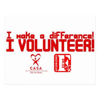 freiwillige T - Shirtentwurfskopie Postkarte