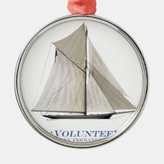 Freiwilliger 1887 silbernes ornament