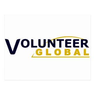 Freiwilliger globaler Swag! Postkarte