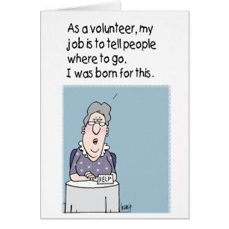 Freiwilliger - ich war für dieses geboren - karte