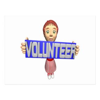 Freiwilliger Postkarte