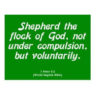 Freiwilliger Service 1 Peter 5-2 Postkarte