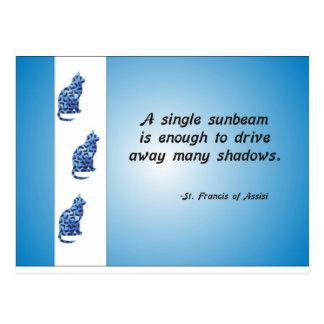Freiwilliges Anerkennungkatzen-und Sunbeam-Zitat Postkarte