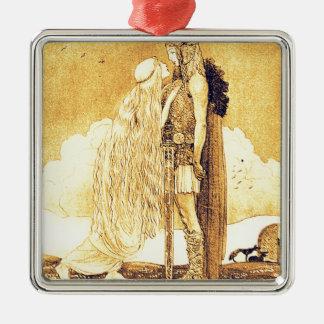 Freja und Svipdag durch John Bauer Silbernes Ornament