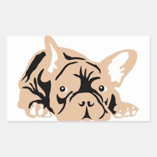 French Bulldog Gifts Rechteckiger Aufkleber