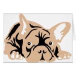 French Bulldog rose Grußkarte