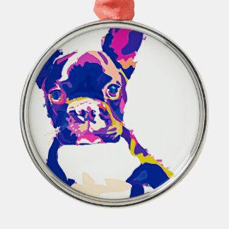 French Bulldogge Silbernes Ornament