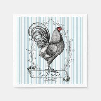 French Rooster Le Poulet Serviette