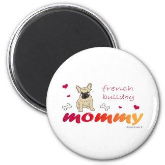 FrenchBulldogFawnMommy Runder Magnet 5,1 Cm