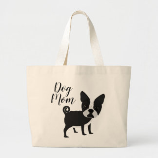 Frenchie Bulldoggen-Hundemamma-Tasche Jumbo Stoffbeutel