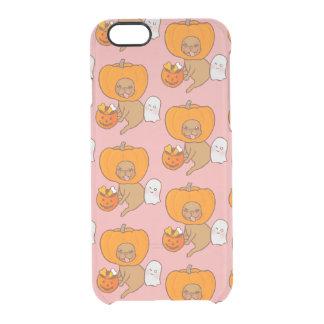 Frenchie im Kostüm für Halloween-Party Durchsichtige iPhone 6/6S Hülle
