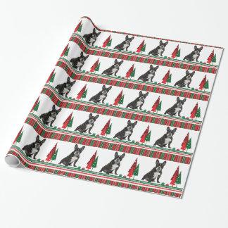 Frenchie WeihnachtsPackpapier Geschenkpapier