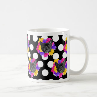 Frenchies und Pansy-Punkte Kaffeetasse
