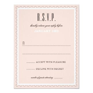 Frenchy-formale Hochzeits-Antwort-Karte Karte