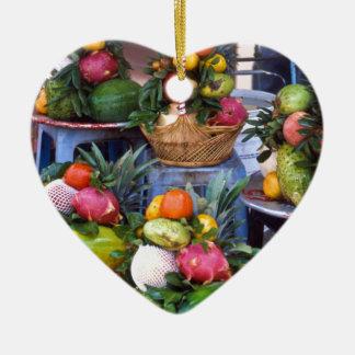 Fresh Asian Fruits Keramik Ornament