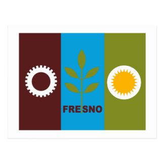 Fresno-Flaggen-Postkarte Postkarte
