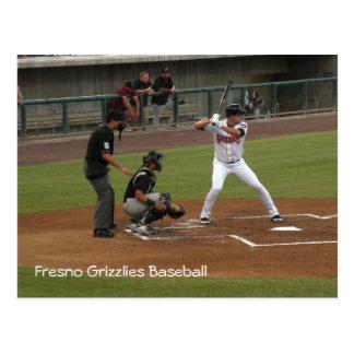 Fresno-Graubär-Baseball Postkarte