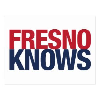 Fresno weiß postkarte
