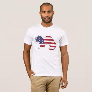 "Frettchen ""amerikanische Flagge "" T-Shirt"
