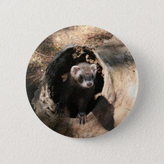 Frettchen-Gesicht Runder Button 5,7 Cm