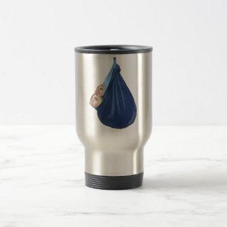 Frettchen im Schlafsack-Kaffee/in der Reise-Tasse Edelstahl Thermotasse