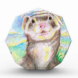 Frettchen-kleines Tierlebewesen niedlich die Kunst Acryl Auszeichnung