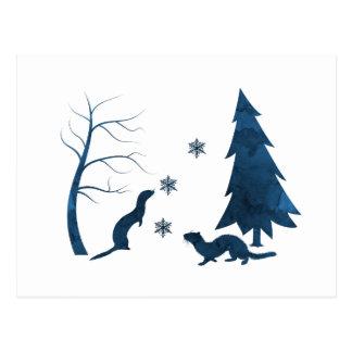 Frettchen Postkarte
