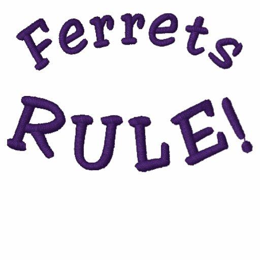 Frettchen-Regel-lustiges gesticktes T-Shirt
