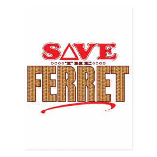 Frettchen retten postkarte