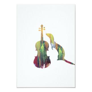 Frettchen und Saxophon Karte