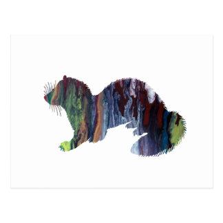 Frettchenkunst Postkarte