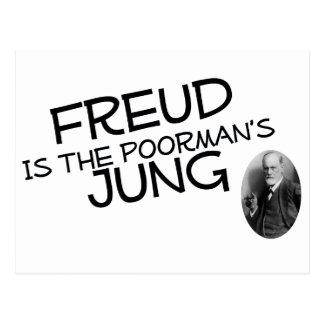Freud ist der des Poormans Jung Postkarte