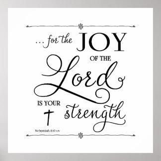 Freude am Lord - Nehemiah 8:10 Poster